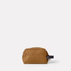 Simon Waxed Cotton Washbag in Breen Back