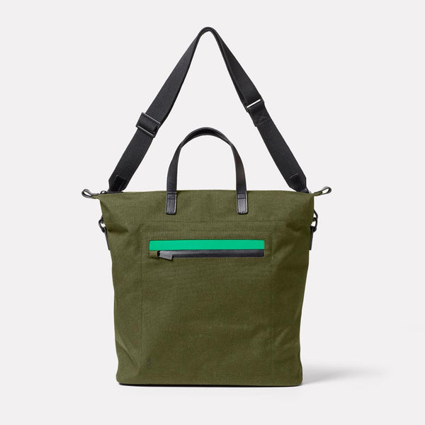 Campo Travel And Cycle Tote in Army Green Front
