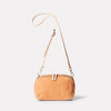 Leila Medium Calvert Leather Crossbody Bag in Light Tan