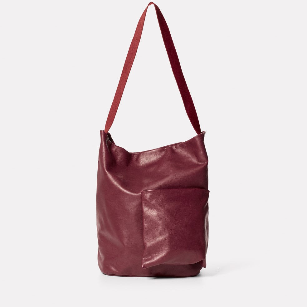 Bobo Camlet Leather Shoulder Bag in Oxblood