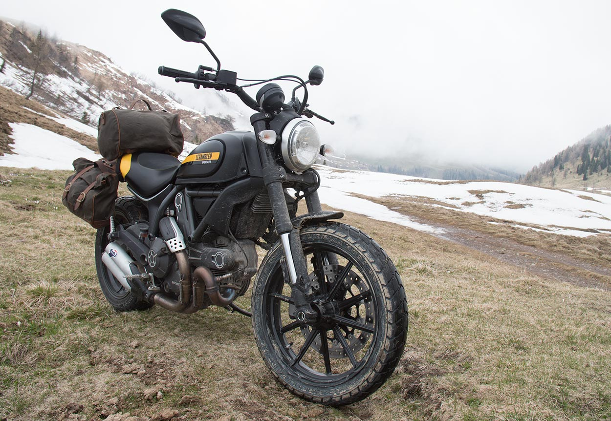 Travel with Ducati Scrambler.