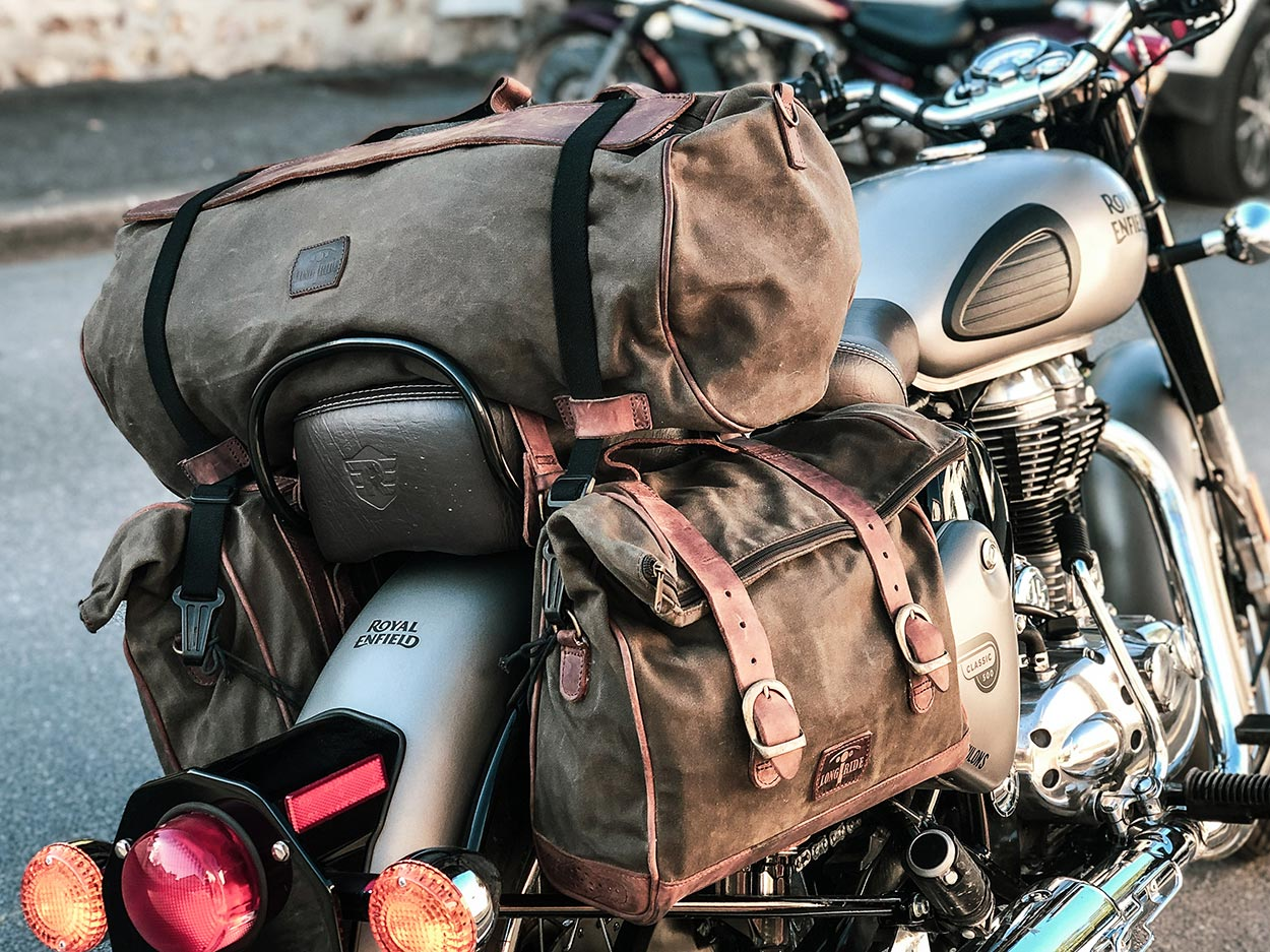 Vintage bags for Royal Enfield.