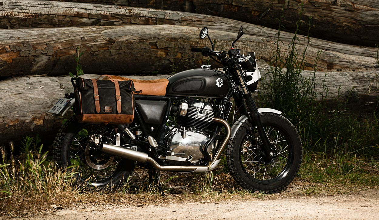 Beautiful saddlebags for Royal Enfield Interceptor 650.