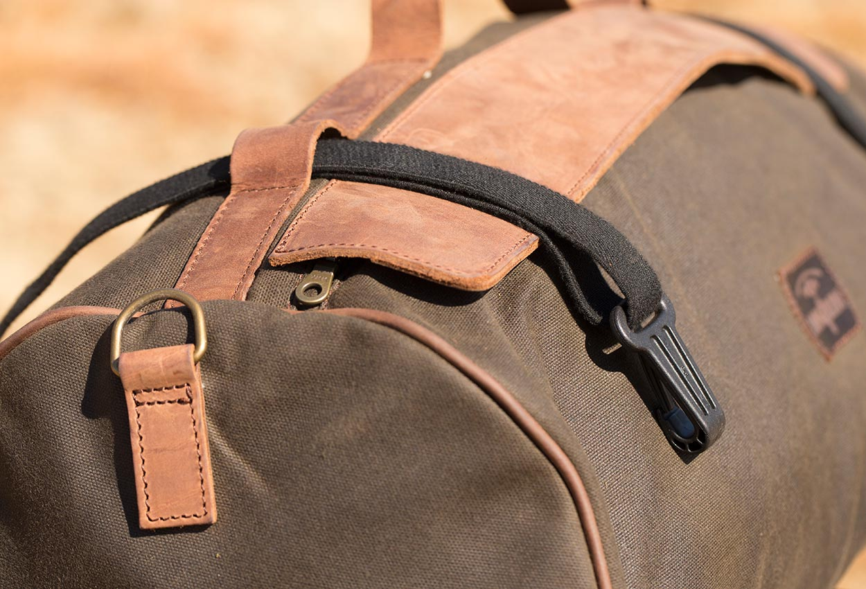 Straps for motorcycle duffle bag.