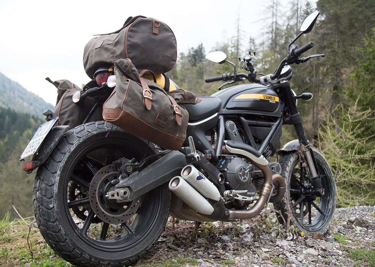 Travelling with the Ducati Scrambler.