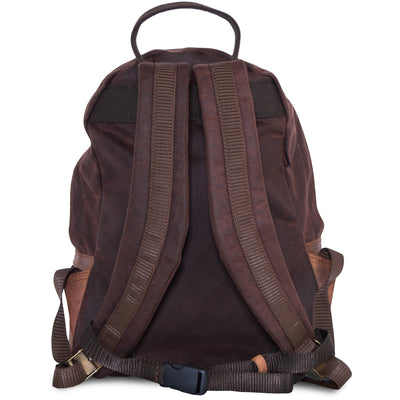 Small Brown waterproof motorcycle backpack.