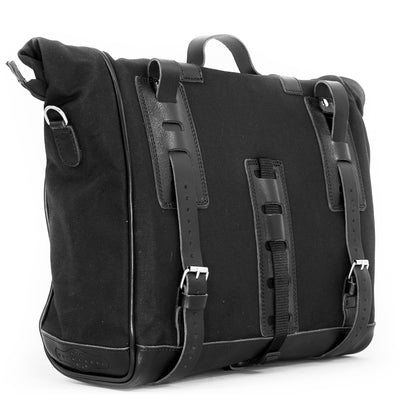 LARGE BLACK PATRIOT SADDLEBAG