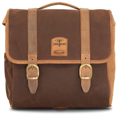 BROWN RACER SADDLEBAG