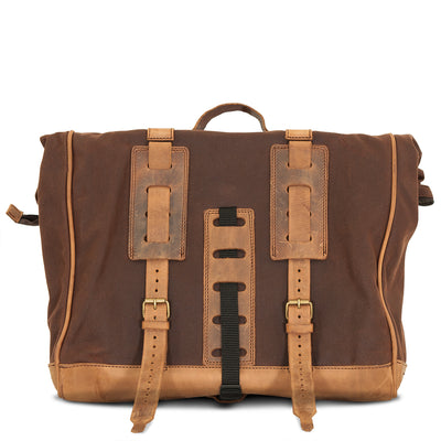 LARGE BROWN PATRIOT SADDLEBAG