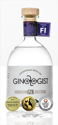Ginologist Floral Small Batch Gin - (Recipe 01) 75cl - South African - Only Here 4 by HG&S Ltd