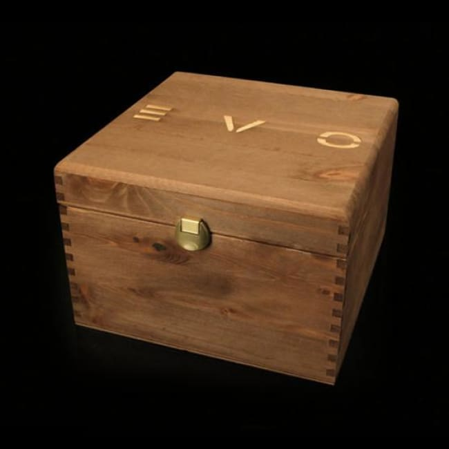 Cigar Game - 36 tubes - EVO deluxe natural wood box with 12 EVO Grappa Classica, 12 FUMO & 12 D Wine Cigar Tubes - Only Here 4 by HG&S Ltd