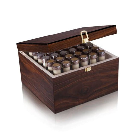 Cigar Game - 36 Tubes - EVO luxury wooden laqured presentation box in Wood finish with 12 EVO Grappa Classica, 12 FUMO & 12 D Wine Cigar Tubes - Only Here 4 by HG&S Ltd