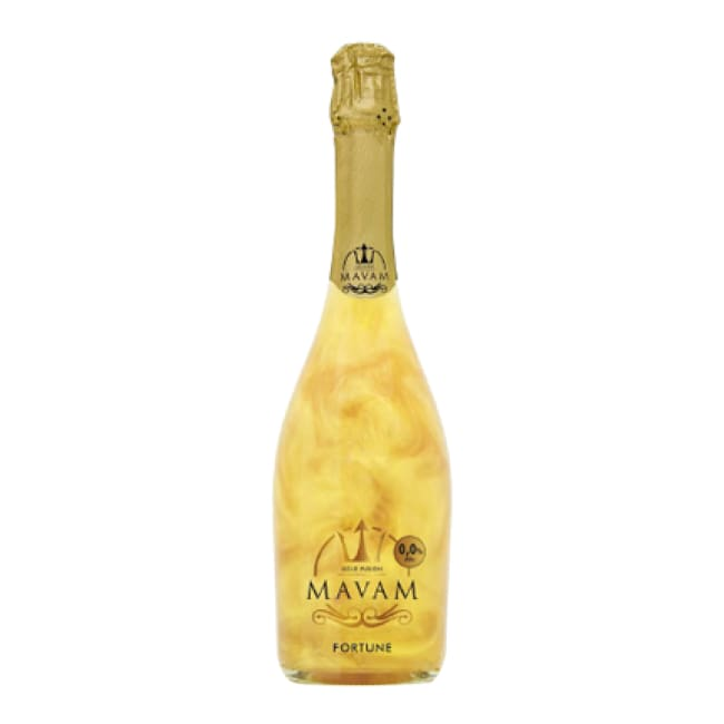Mavam - 0% alcohol premier sparkling wine with an exotic gold colour. Available in 3 flavours - Only Here 4 by HG&S Ltd