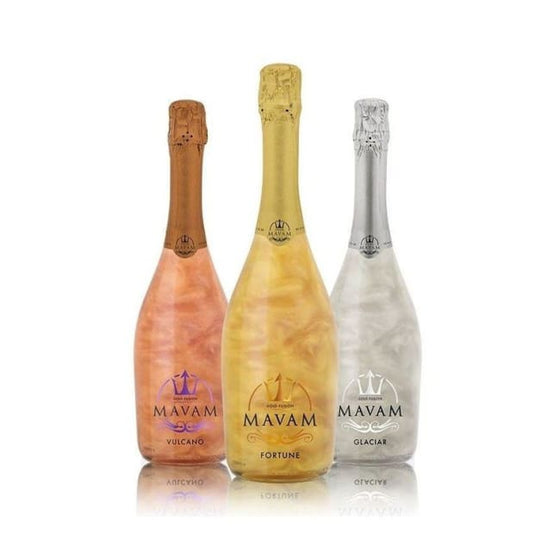 Mavam - 0% alcohol premier sparkling wine with an exotic gold colour. Avilable in 3 flavours - Only Here 4 by HG&S Ltd