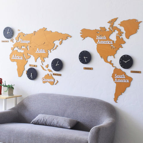 Large clocks clocksonly world map world clocks world map world clocks gumiabroncs Gallery