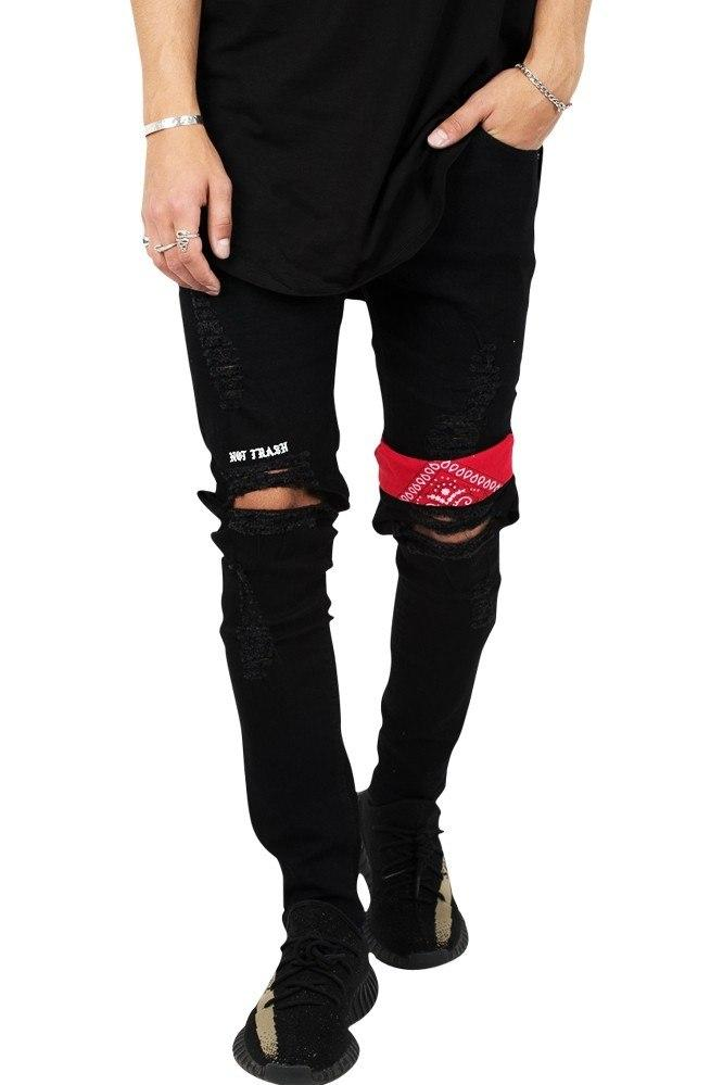 """NOT TRASH"" Ripped Rare Black Jeans"