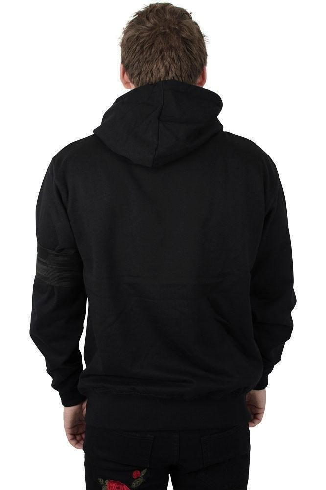 Shadez Black Rose Hoodie Black