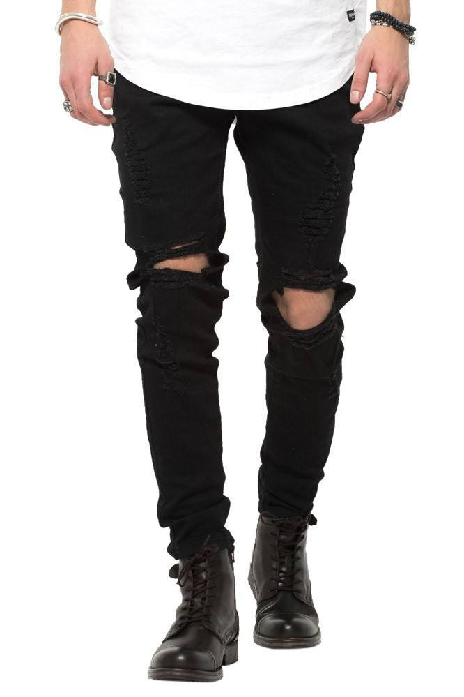 Black RIPPED West Jeans