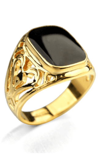 Prime Jewelry - Golden Black Stone