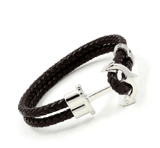 Prime Jewelry - Black Anchor Bracelet