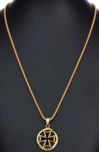 Prime Jewelry - Circle Cross Gold Necklace