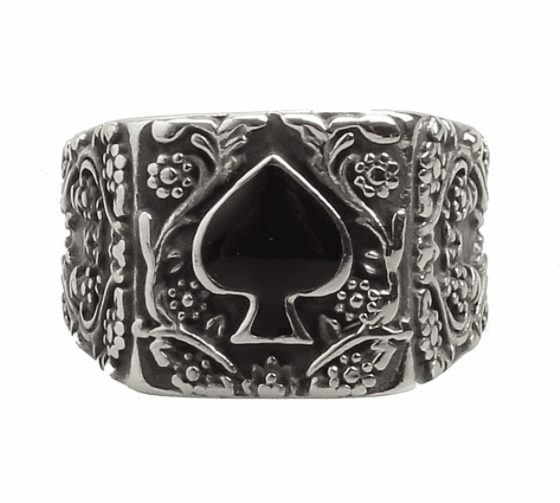 Prime Jewelry - Ace Of Spades Silver Ring