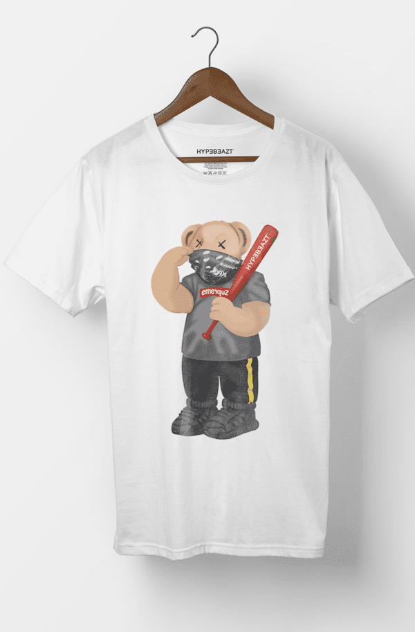 HypeBeazt Bear Zupreme White - incl. Hypebeazt baseball bat