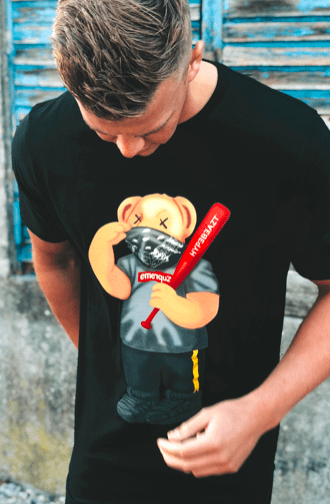 HypeBeazt Bear Zupreme Black - incl. Hypebeazt baseball bat