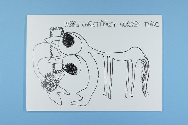 Happy Christmas Weird Christmassy Horsey Thing