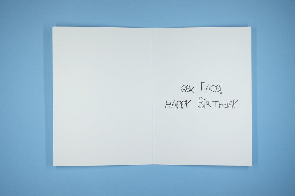 Birthday Card Male Sex Face Worlds Worst Words Greetings Cards