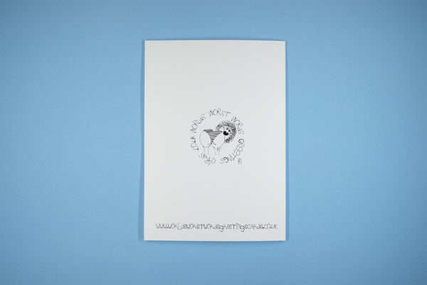 Blank Occasion Card Mermaid Blow Hole/Bum Hole