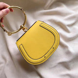 Half Moon and Square Shaped Small Handbag