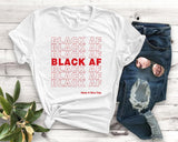 Black AF Have A Nice Day red Women tshirt