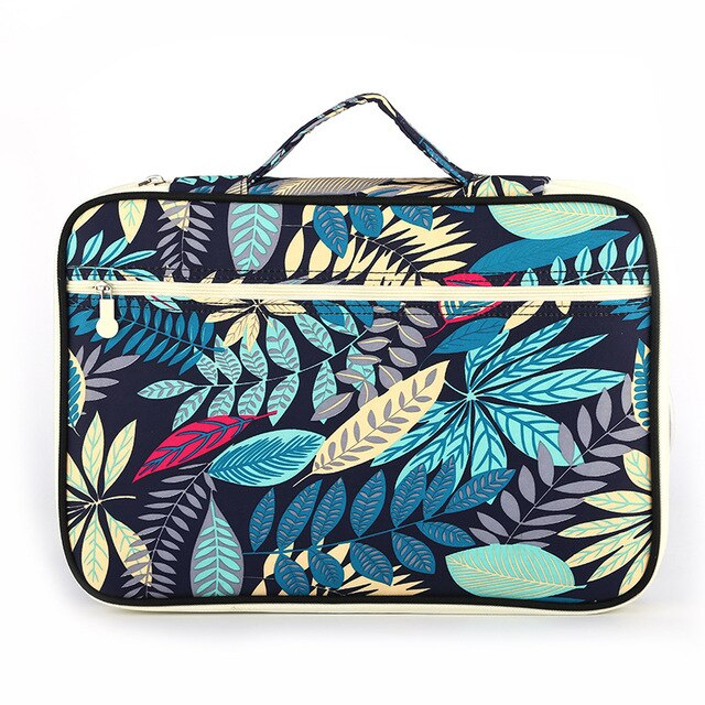 Floral File Folder Document Bag Waterproof