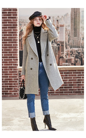 long thick woolen coat