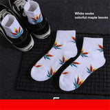 Hemp Leaves Print Socks