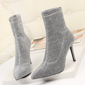 Sock Boots High Heel