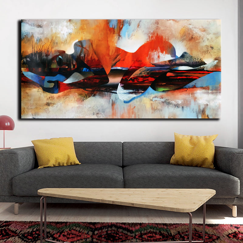 Abstract Watercolor Canvas Painting