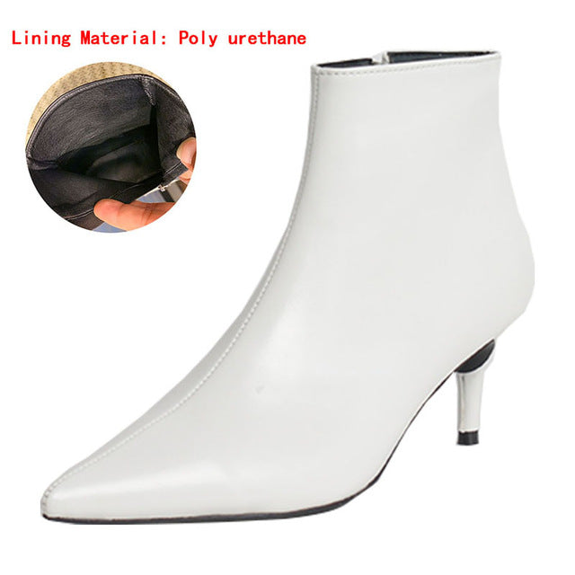 Pointed High Heels Martin Boots