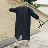 Vintage Loose Long Button Coat