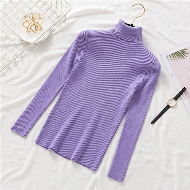Turtleneck Pullovers Korean Slim-fit Sweater