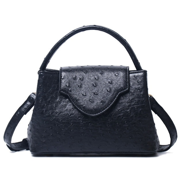 Ostrich Leather Tote Bag