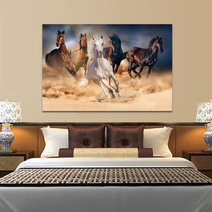 Modern Animals Posters and Prints Wall Art Canvas Painting Running Horses Pictures for Living Room Cuadros Decoration Unframed