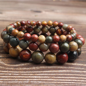 4-12mm Fashion natural Jewelry red leaf pine stone