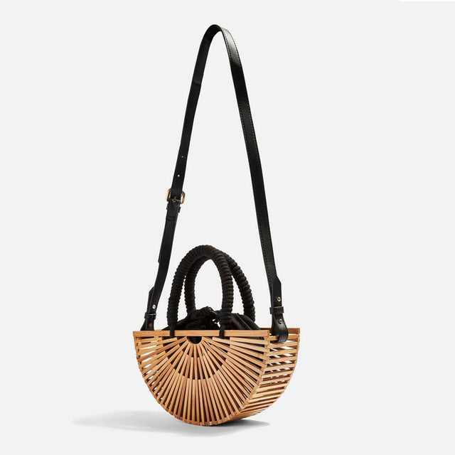 Antique  Bamboo Woven Bag