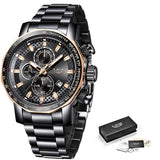LIGE New Sport Chronograph Watch