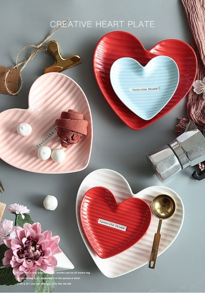 Heart-shaped Ceramic Plate