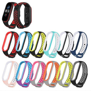 Breathable Double Color For Mi Band 5 Bracelet Strap