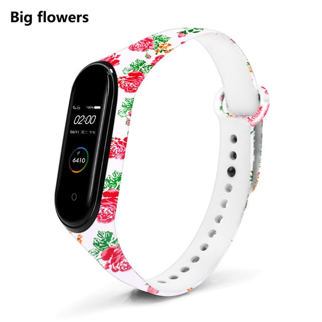 Personalized Floral Print Strap for Mi 5,4,3 Straps
