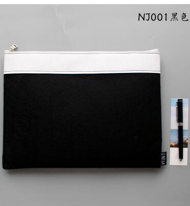 34.5*24cm Wool felt Zipper File Folder - Waterproof